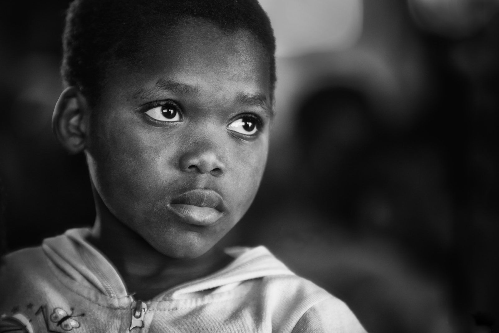 Black and white African child